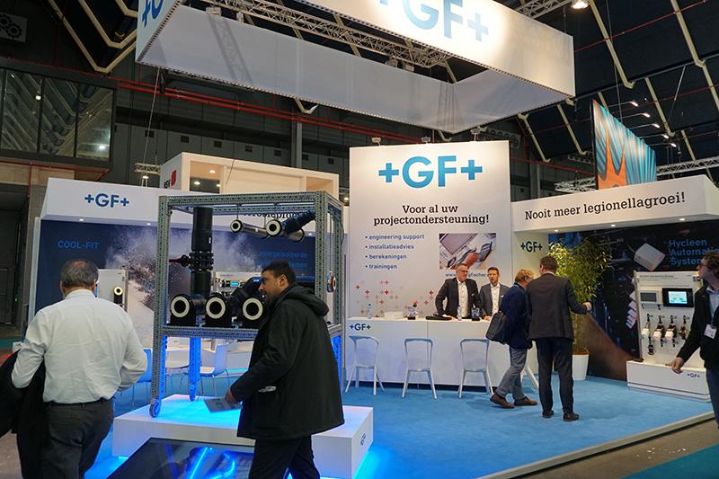 Houtbouw stand op VSK voor GF+ - Standbouw.nl