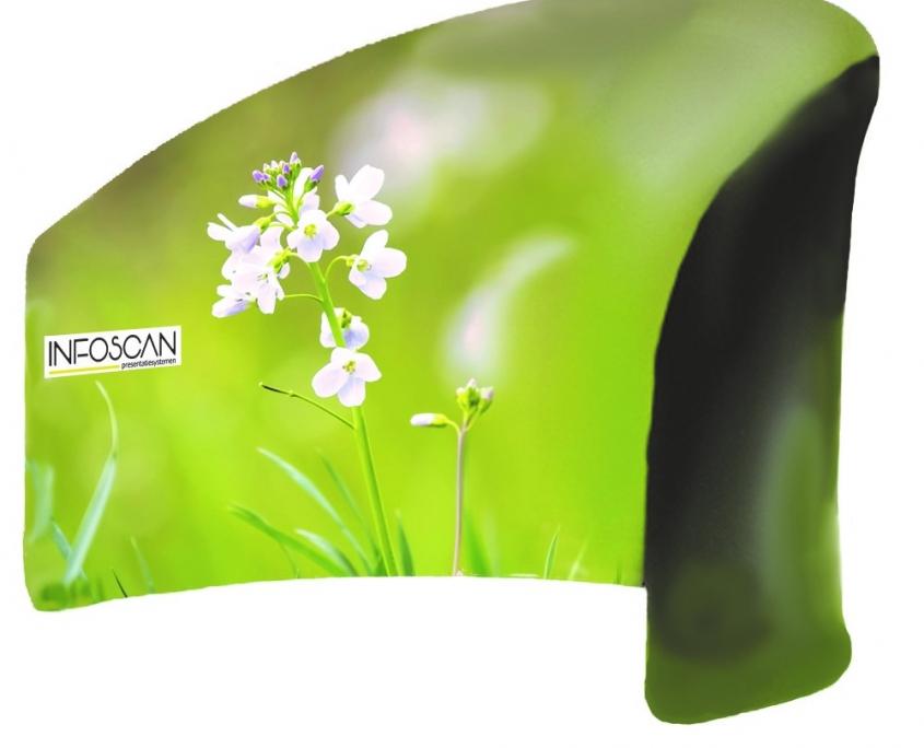 groen met bloem